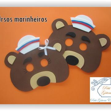 Máscara Ursos Marinheiros de EVA