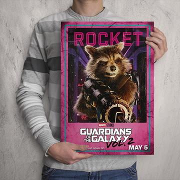 Quadro Guardiões da Galáxia / Rocket