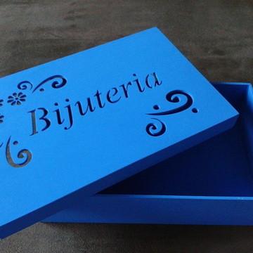 Caixa para Bijuteria Azul