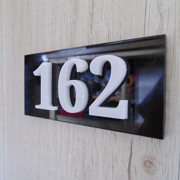 placa número apartamento personalizado