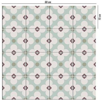 Adesivo para azulejo retrô