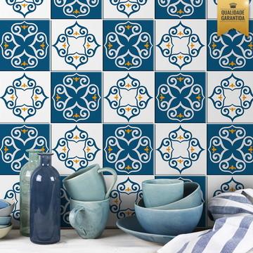 Adesivo de azulejo azul português
