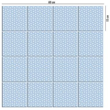 Adesivo de azulejo azul bolinhas