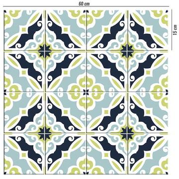 Adesivo de azulejo português colonial