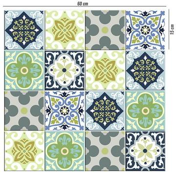 Adesivo de azulejo Mix verde