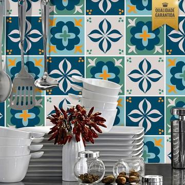 Adesivo de azulejo mix português