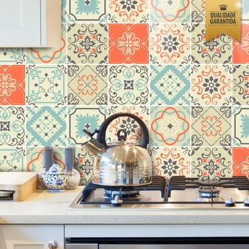 Adesivo de azulejo mix tons pastéis