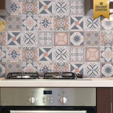 Adesivo para azulejo mix retrô