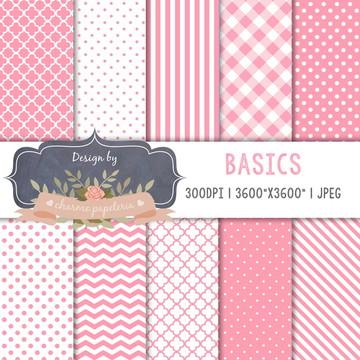 Papel Digital Pink - Básicos