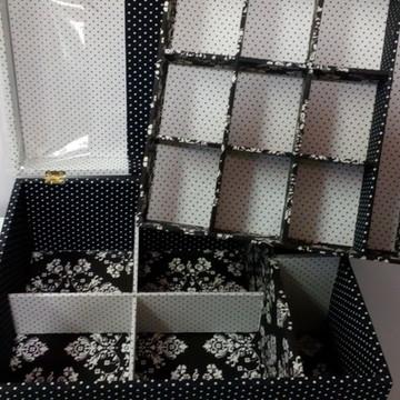 caixa porta joias mdf tecidos