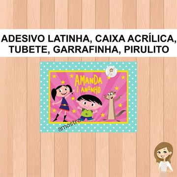Adesivo Garrafinha Show da Luna