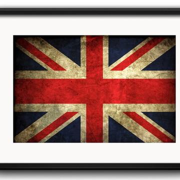 Quadro Bandeiras de Países Estilo Retrô com Paspatur