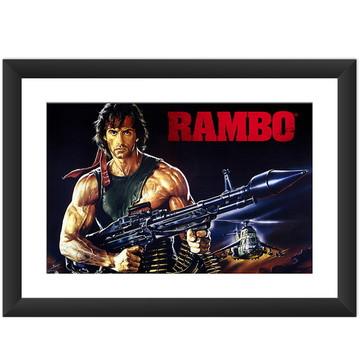Quadro Filme Rambo Stallone Cinema Retro