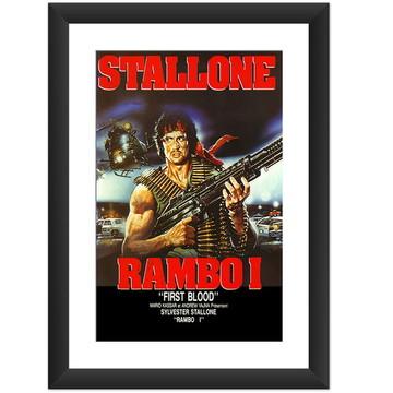 Quadro Filme Rambo 1 Stallone Cine Retro