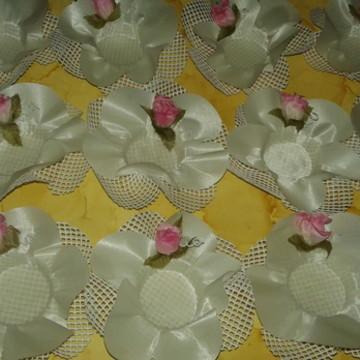 Forminhas de doces finos em tecido
