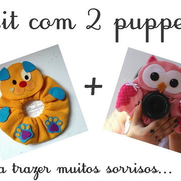 Kit 2 Puppets: Coruja e Cachorrinho