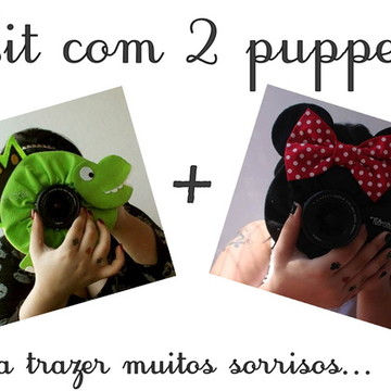 Kit 2 Puppets: Minnie e Dino