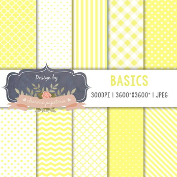 Papel Digital Amarelo básicos