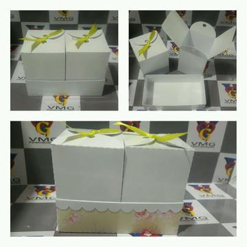 Caixa dupla para lembrancinhas/presentes