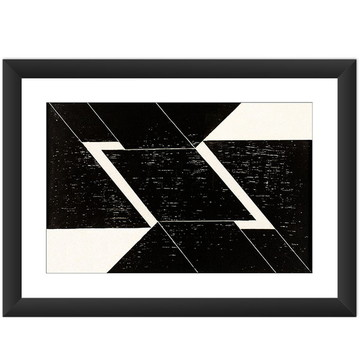Quadro Figura Geometrica Preto Branco A