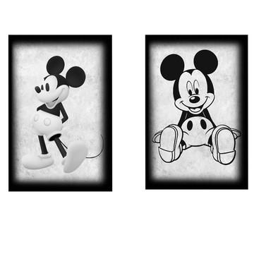 Quadros mickey vintage - mdf