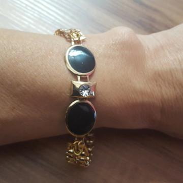 Bracelete Dourado Esmaltado