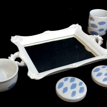Kit Higiene Porcelana Nuvens