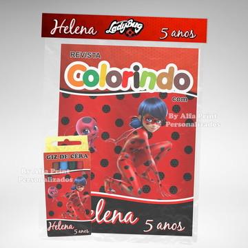 Kit Colorir Lady Bug + Brindes