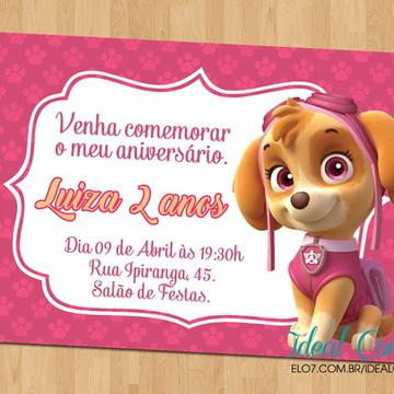 Convite - Tema Patrulha Canina