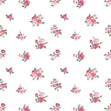 Papel de Parede Flores Pequenas Rosa Sob