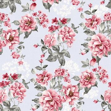 Papel de Parede Flores Rosa com Efeito