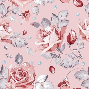 Papel de Parede Floral Rosa Clarinho