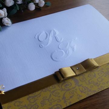 Convite Casamento Dourado/Especial