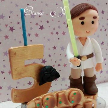 Topo de Bolo Luke Skywalker