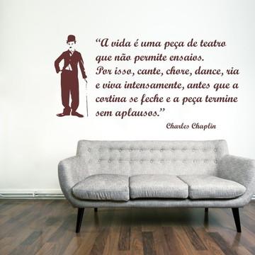Adesivo - CELEBRIDADES - Frase Chaplin