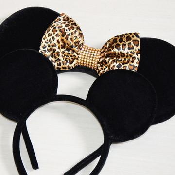 kit 2 Orelhas Mickey e Minnie Safari