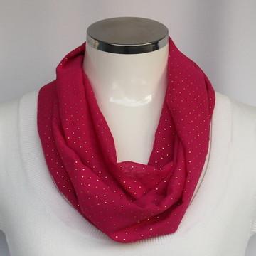 Lenço Pink e Mini Poás Douradas