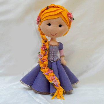 Rapunzel em Feltro