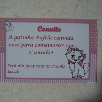 Convite Gatinha Marie 0889