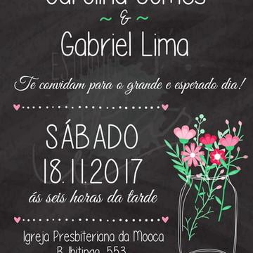 Convite Casamento Lousa - Digital
