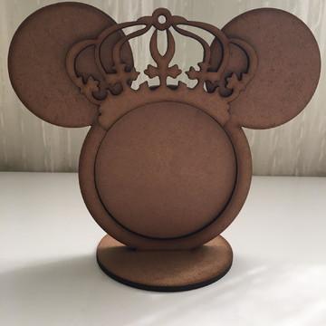 Porta Retrato Mickey com coroa MDF