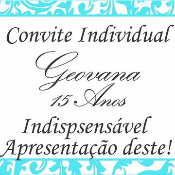 Convite Individual Casamento/ 15 Anos