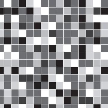 Papel de Parede Pastilha Branco e Preto