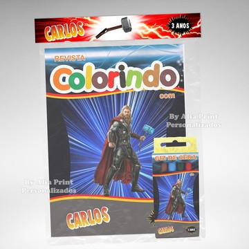 Kit Colorir Thor + Brindes