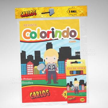 Kit Colorir Thor Cute + Brindes