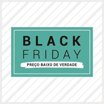 Adesivo de Vitrine Black Friday Clássico