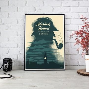 Quadro Sherlock Holmes Com moldura