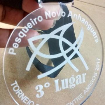 Medalha em Acrilico Com Gravação