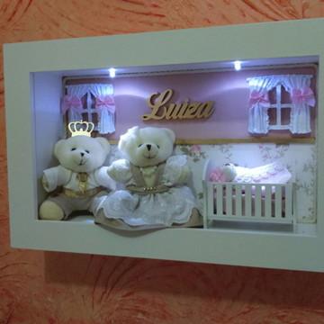 Porta Maternidade ursos com iluminação