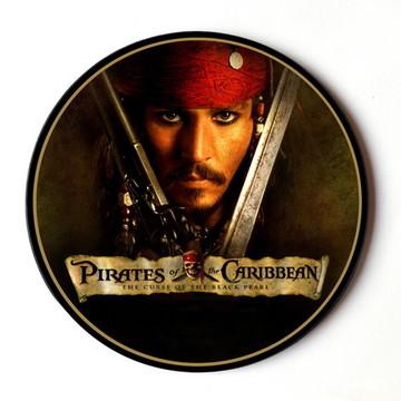 Quadro redondo Piratas do Caribe